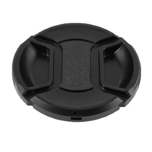 SODIAL(R) Negro 62mm Cubierta tapa de lente delantera de diseno de pellizco central