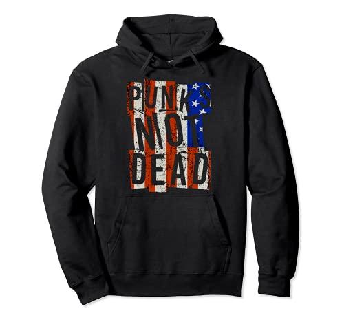 Punks Not Dead - Vintage - USA America - Punk Is Not Dead Felpa con Cappuccio