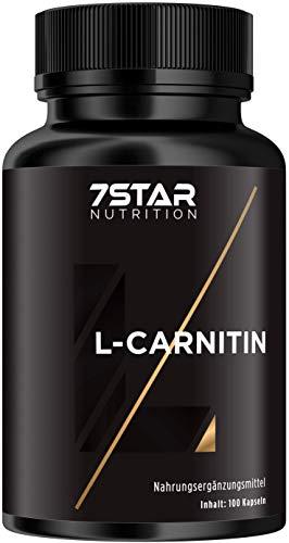 7 Star Nutrition L-Carnitin - 60 Kapseln extrem hochdosiert für Muskeln, hergestellt in Deutschland