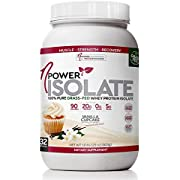 nPower Nutrition Isolate, 100% Pure Grass-Fed Whey Protein Powder, Vanilla Cupcake, 20g Protein, 5g BCAA, 2.1lb Tub