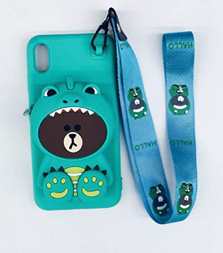 iPhone 7 Plus Silikon Hülle, 3D Weich TPU Silikon Handyhülle mit Wallet Pocket, Cartoon Schutzhülle für Kinder und Mädchen, Stoßfest Bumper handyhülle Kompatibel mit iPhone 7 Plus.