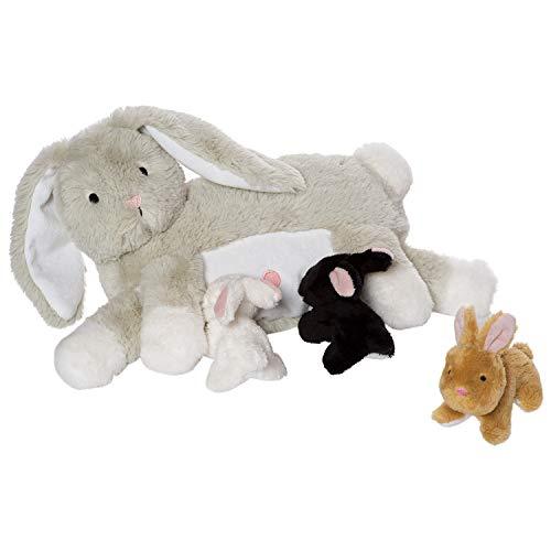 Manhattan Toy Nursing Nola Rabbit Nurturing Soft Toy