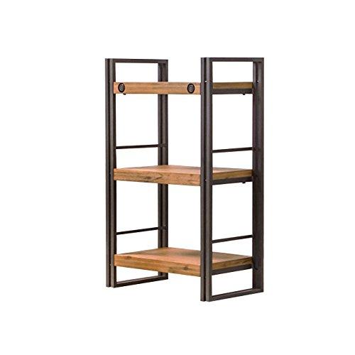 Bücherregal Design Industrial Style aus Metall und Akazienholz - hochwertig verarbeitet - Workshop Collection