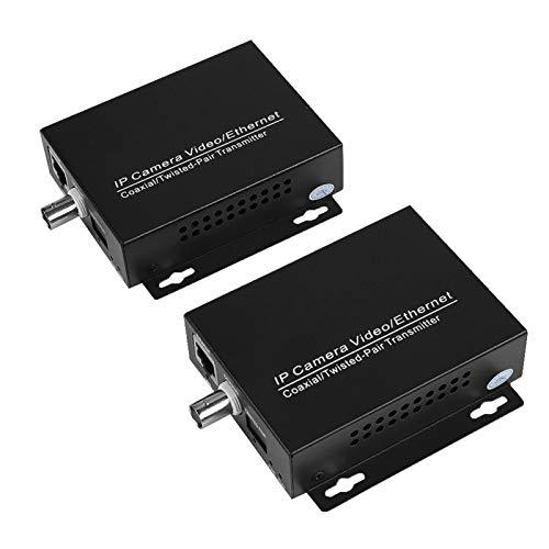 Extensor de red IP Ethernet de 1 par sobre coaxial RJ45 BNC Extensor de red coaxial para cámaras CCTV de seguridad