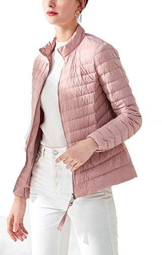 Frauen Winter warme Daunenjacken mit Kapuze Winddicht Schlank Solide Langarm Zip Coat