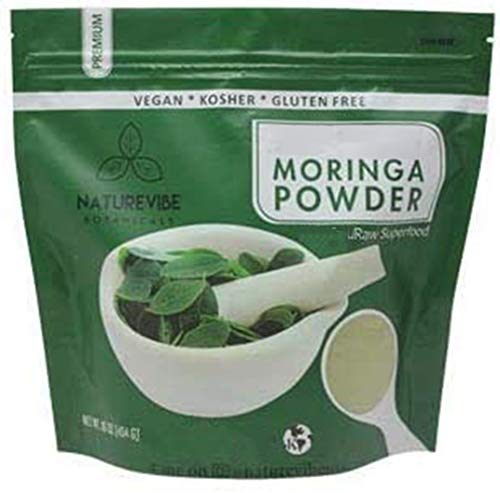 Premium Moringa Powder by Naturevibe Botanicals (1 Lb), Non GMO and Gluten Free | Multi-Vitamin | Great in Drinks and Smoothies | Supports Weight Loss. [Packaging May Vary]