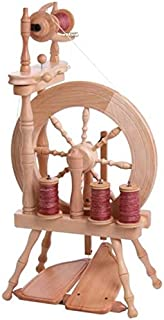 Ashford Traveller Spinning Wheel, Single Drive, Double Treadle, Natural by Ashford