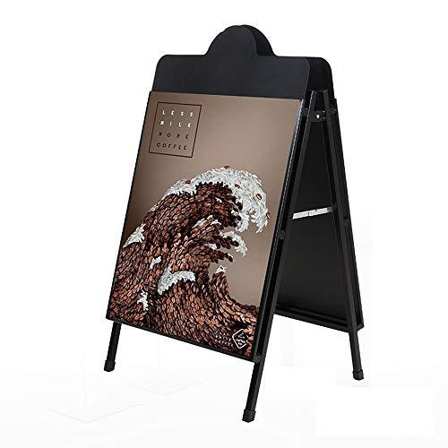 QiHaoHeji Plakat, mehrere Standschilder aus Acrylkarton, Kuppel, Menü für Ausstellungszelte 60 x 106cm schwarz