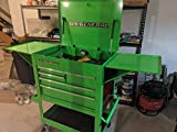 Roller Cart Tool Cabinet Storage Chest Box Glossy 4 Drawer 580 Lb. Capacity - Green