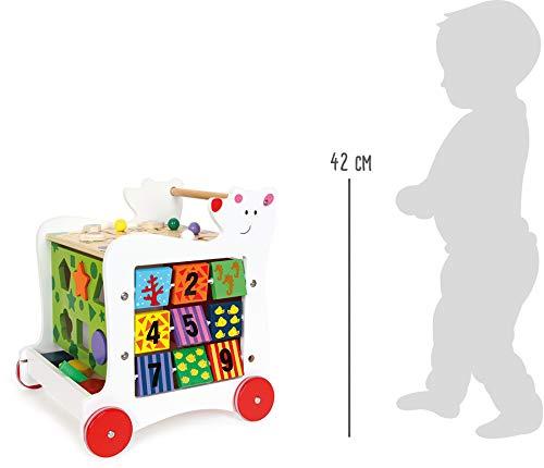 """Lauflernwagen""""Bär"""", Lauflernhilfe aus Holz, vielseitig bespielbares Motorikspielzeug/Lernspielzeug, Babyspielzeug ab 12 Monaten - 6"""