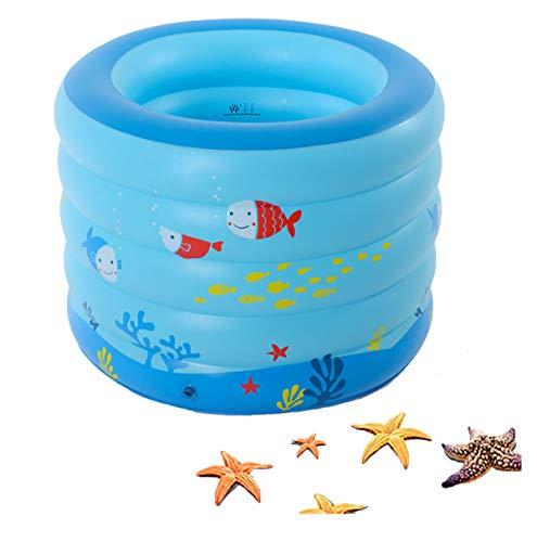 JJYP Familien-aufblasbarer Pool-Planschbecken 106 * 75 cm PVC-verdickter aufblasbarer Kiddie-Party-Lounge-Pool für Kinder Erwachsene Schwimmbäder für den Garten Hinterhof im Freien-Blue-B