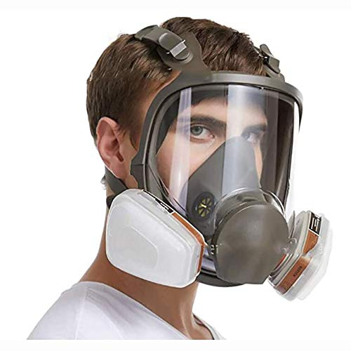 Anti-Fog Respirator Full Face Gas Mask Protection, Industrial Gas Masks with Activated Carbon Filters, Widely Used Anti Dust Comprehensive Tool