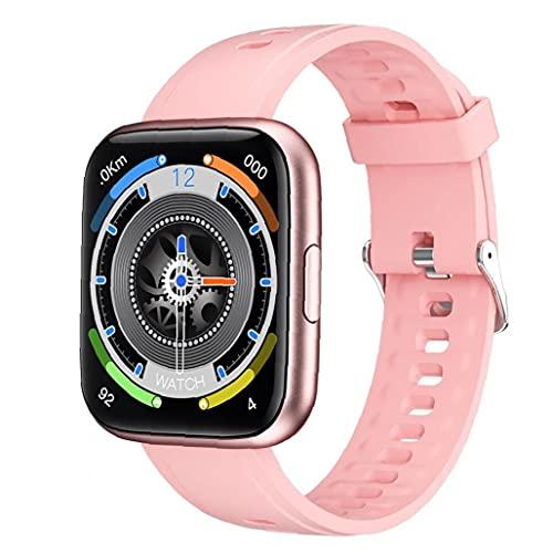 GGOOD Inteligente Reloj Sports Tracker Impermeable Pantalla 1 69 En Completa con Contador de Paso de Control de música Compatible con el Dispositivo iPhone Android Rosa usable