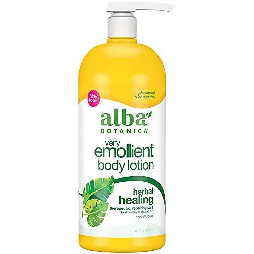 Alba Botanica Very Emollient Body Lotion, Herbal Healing, 32 Oz