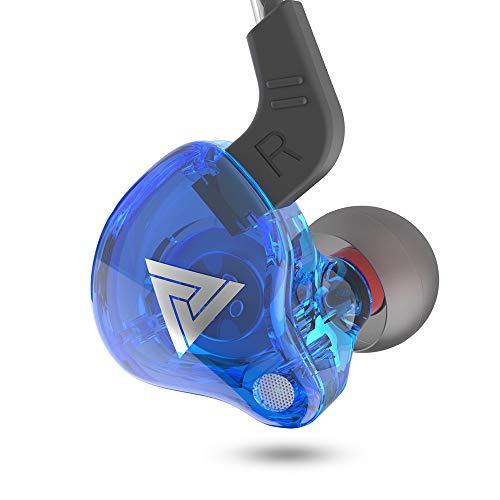 Fone QKZ AK6 - Retorno de palco, celular, estudo - Qualidade de som - Cor Azul