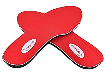 Samurai Insoles Plantar Fasciitis Arch Support Shoe Insoles Men 8 to 8 ½ Women 10 to 10 ½ Red