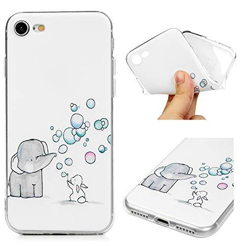 Handyhülle für iPhone 7 / iPhone 8, Gemalt Hülle, TPU Case Schale Schutzhülle Handytasche Stoßdämpfung Cover in Blasen-Symbol