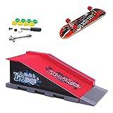 KETIEE Finger Skate Park Kit Juego de minimonopatín de Dedo con rampa y Otros Accesorios Diapasón de rampa Parque Juguete para Niños (B)