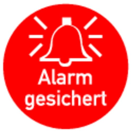 LEMAX® Aufkleber Alarm gesichert 50mm