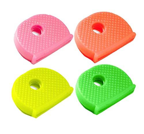 Lucky Line Medium Key Identifier Caps, Standard Size, Assorted Neon Colors, 4 Pack (16506)