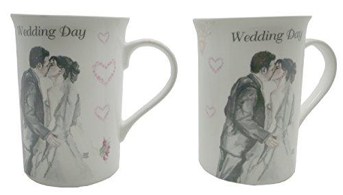Wedding Day-Set di tazze, regalo per & Lesser Pavey