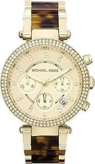 ساعة مايكل كورس، نسائية، لون الميناء ذهبي، بسوار من اسيتات [MK5688]