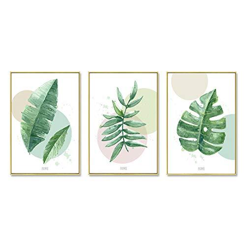 ZFFLYH Wandbilder, Set Von 3 Botanical Prints, Modern Minimalist Gemälde Sofa Hintergrund Wandmalerei Nordic Wohnzimmer-Dekoration Malerei (30 * 40CM),D,Athens White