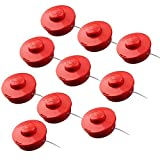 Taohou 10PCS / Set Bump Feed Head Line Desbrozadora Whipper Snipper Trimmer Grass Césped, Rojo