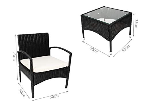 MT MALATEC Gartenmöbel Sitzgruppe Sofa Polyrattan Gartenset Tisch 11965 - 2