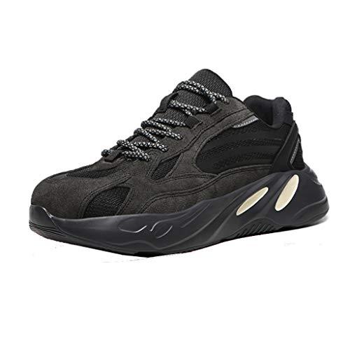 Zapatos de seguridad Zapatos de seguridad de acero de los hombres del cuero del ante del dedo del pie Cap Formadores Por carretera Trabajadores Soldador, cuatro estaciones de las mujeres de peso liger