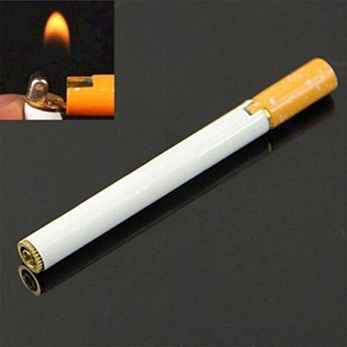 Cool Lighter Cigarette Shaped Mini Lighter Refillable Butane Gas Jet Flame Cigar Outdoor Camp