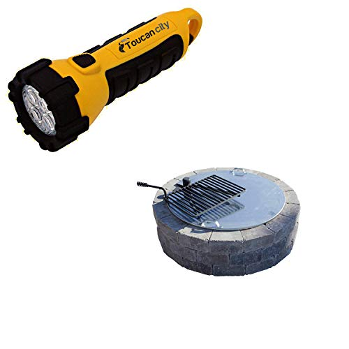 Toucan City LED Flashlight and Necessories 34 in. Fire Pit Cover with Slot IAC-30E