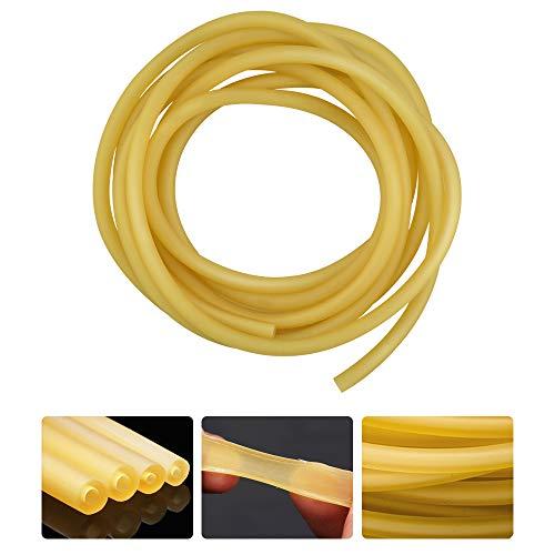 N A  3M - Banda de goma de látex natural para tubos de alta elasticidad, para caza al aire libre (9 x 6 mm, amarillo)
