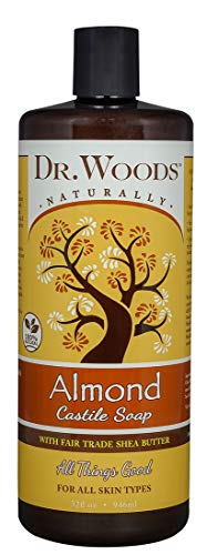 Dr. Woods Pure Almond Liquid Castile Soap with Organic Shea Butter, 32 Ounce