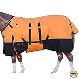 HILASON 72' 1200D Winter Waterproof Poly Horse Blanket Belly Wrap Orange