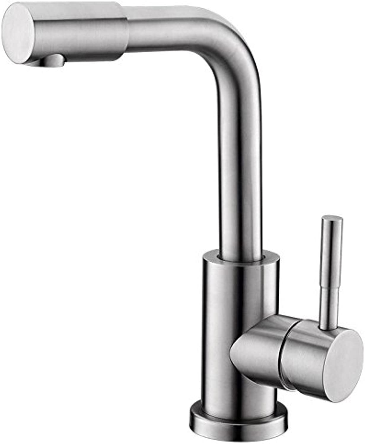 AQMMi Basin Taps Bathroom Sink Faucet 1 Hole Hot and Cold Water 304 Stainless Steel Bathroom Sink Faucet Basin Mixer Tap