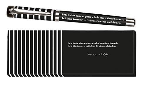 Moses libri_x Bolígrafo de tinta Jane Austen con mina intercambiable en una caja de regalo, color Negro