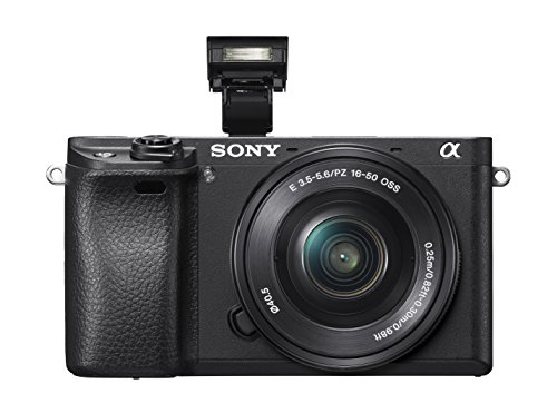 Sony Alpha a6300 Mirrorless Digital Camera with E PZ 16-50mm F3.5-5.6 OSS Power Zoom Lens (Black)