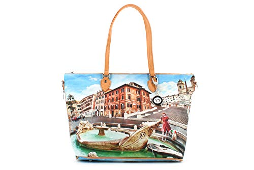 YNOT SHOPPING BAG MEDIUM-WITH ZIP YES-397S0 ROME FOUNTAIN
