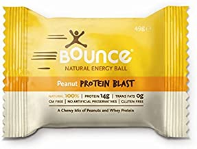 BOUNCE Energy Ball Healthy Food Supplement Protein Vitamin Bar Gluten Free Peanut One Size Estimated Price : £ 6,48