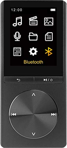Difrnce MP1820BT 4 GB zwart Bluetooth multimediaspeler MP3-speler tot 25 uur muziekgenot/tot 8 uur video