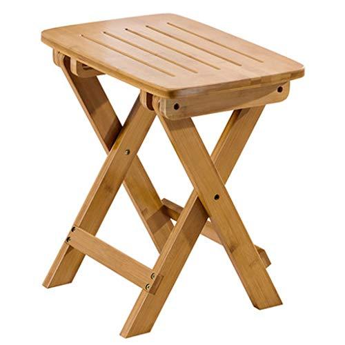 JIAX Opvouwbare houten bank, scheermes en douchepedaal, 17,5-inch hoge stoel voor schoenenrek, kleine bank, inklapbare tuinbank, badbank, gemakkelijk op te vouwen en te dragen