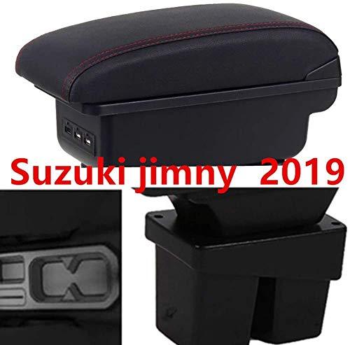 DDDXF Armlehnenbox 3 * USB Double Layer Central Store Inhalt Getränkehalter Aschenbecher Zubehör Für Suzuki Jimny 2019 +, B, B.