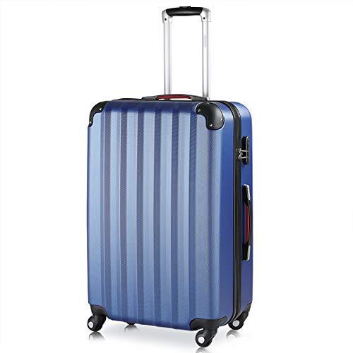 Monzana Maleta rígida Baseline XL Color Azul Equipaje de Viaje 90L Peso 3,5Kg con Ruedas 360° Trolley 2 Asas valija