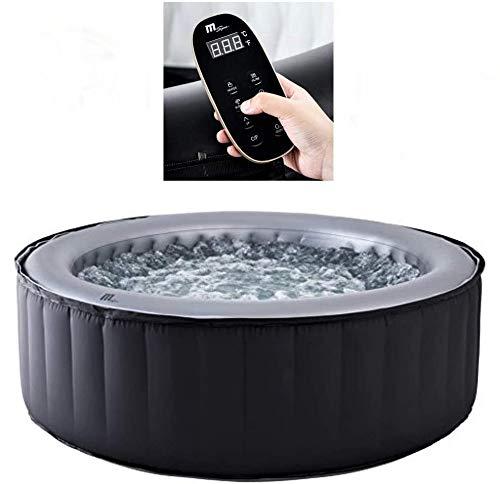 DEKO VERTRIEB BAYERN XXL Luxus Premium SPA Whirlpool Set aufblasbar Outdoor Indoor Pool Fernbedienung +Heizung 4 Pers. inkl. Lieferung Mspa Neustes Modell 2021