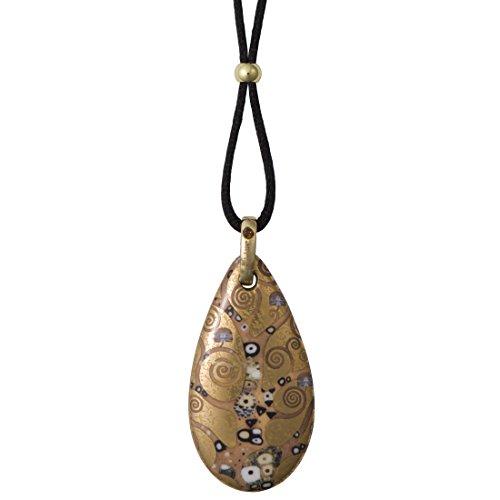 Goebel, Porzellan-Kette, Gustav Klimt, Wasserschlangen, Vergoldet, Textilband mit Verschluss, 6 cm, 66999071