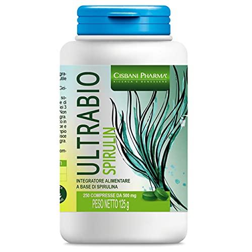 SPIRULINA BIO, 250 compresse da 500 mg | Alga naturale dimagrante, fonte di energia e resistenza, con Proteine Vegetali, ricca di Ficocianina. Rafforza il tuo sistema immunitario | Cisbani Pharma