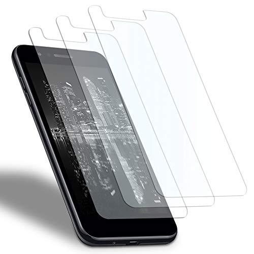 MYCASE 3X Bildschirmschutz Folie für LG K8 2018 | Echt Glas | 0,3 mm Dünn