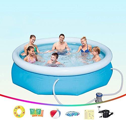 HLJ Piscinas inflables 305X76cm, los Hijos Adultos Piscina Inflable con Filtro de la Bomba, la Familia de jardín al Aire Libre de PVC Piscina for niños