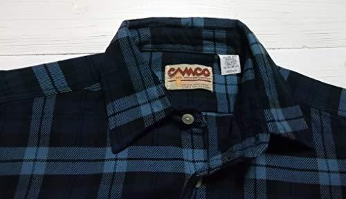 (カムコ)長袖ヘビーコットンネルシャツフランネルネイビーCAMCOFLANNELSHIRTS007(S)